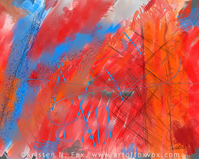 Crazy Vibrance Abstract Painting ©Kristen N. Fox, gallery.artoffoxvox.com